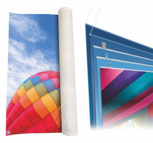 Werbebanner Stoff & PVC